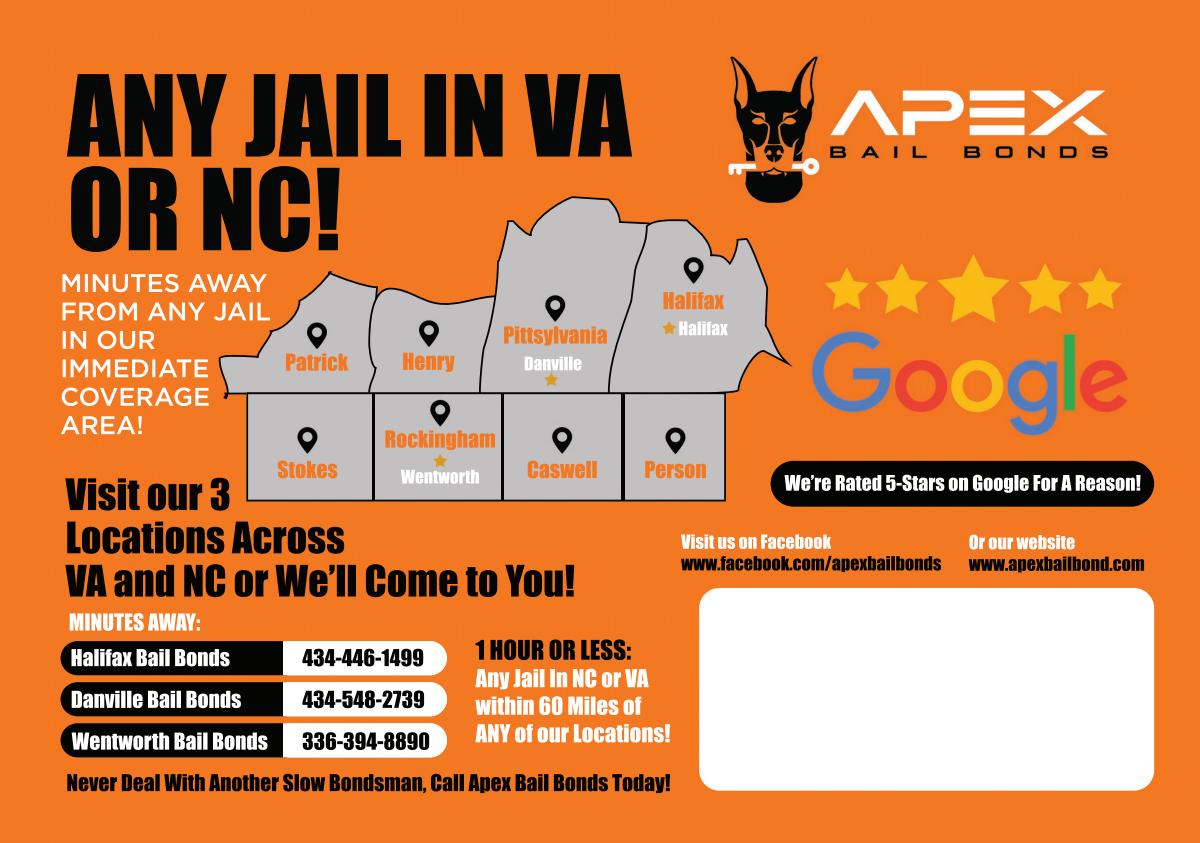 Postcard mailer for bail bonds company