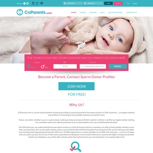 CoParents Website Design