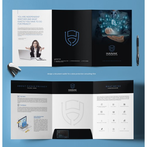 design a document wallet for a data protection consulting firm