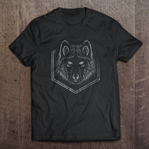 Wolf vector proposal for Luawai T-shirt