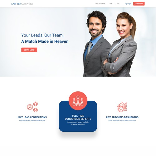 LawyerConvert Brochure Style Website