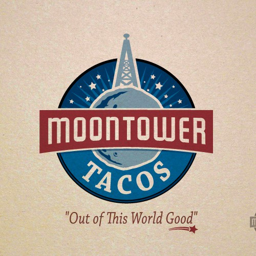 Create the next logo for MOONTOWER TACOS