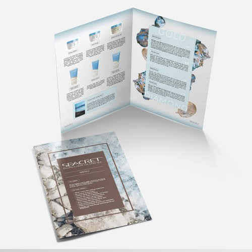 Advertisement Brochure for new Seacret products for Salon