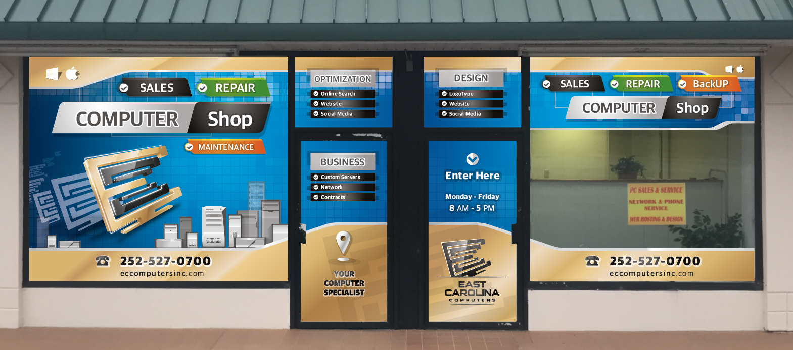 Create a Store Front Window Display Design