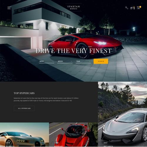 Luxury car sales website