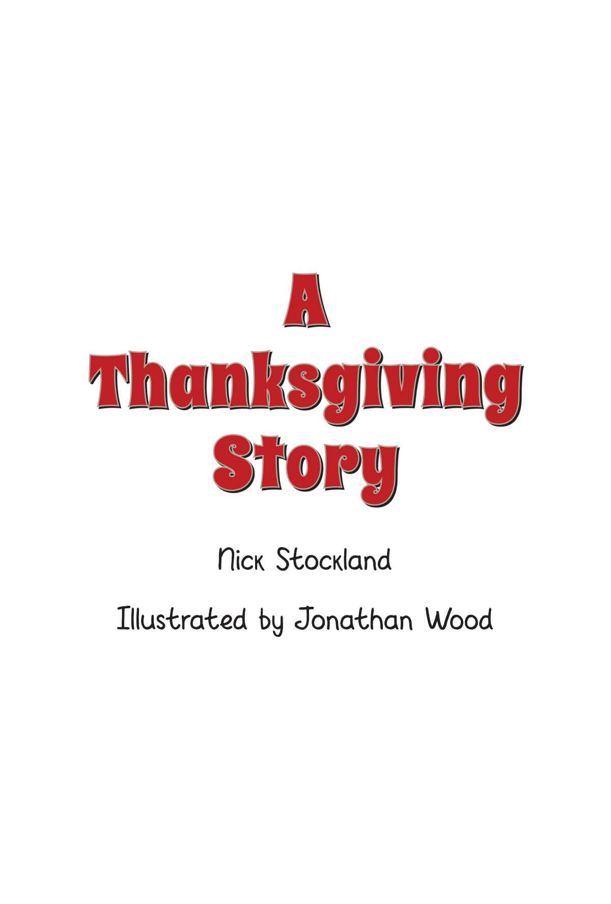 Children's book - A Thanksgiving Story