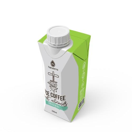 Almond milk packaging