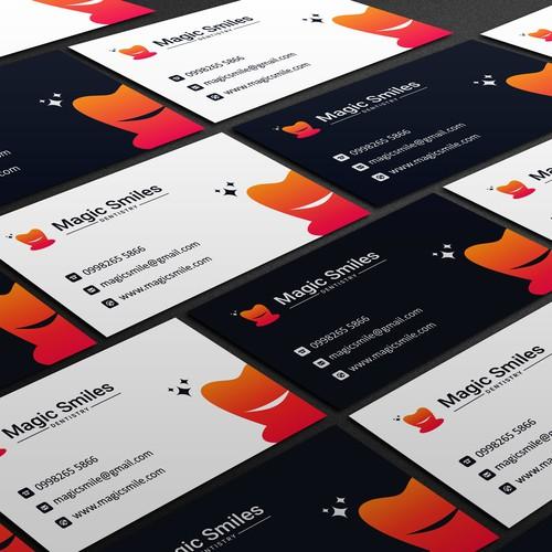 Eye catching business card design