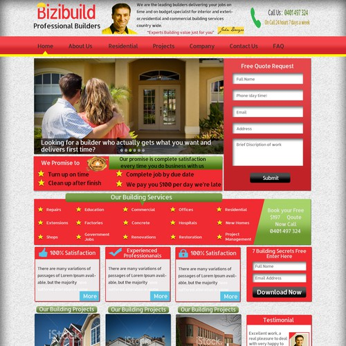 Create Website Redesign for Building Company