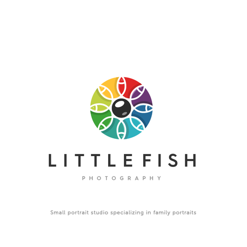 colourful logo fot Litttle fish photography