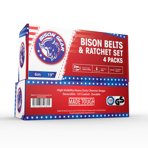 Bison Gear Ratchet Straps