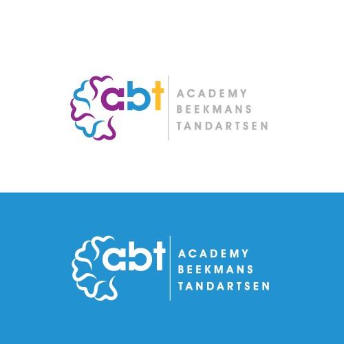 Create the next logo for a-bt  short for academy beekmans tandartsen