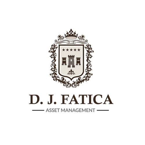 Outstanding traditional English style asset management Logo