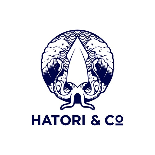 Hatori & Co logo concept.