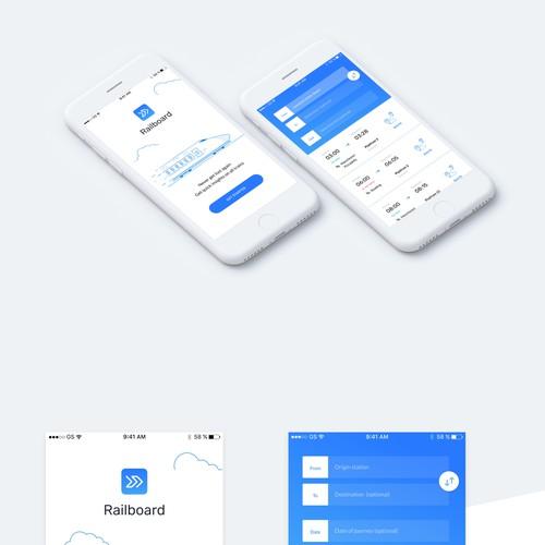 App design concept for Railboard