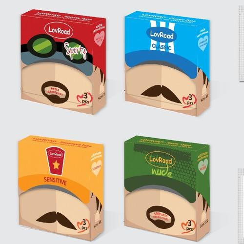 Bizarre Design for Condom Packaging