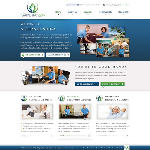 Help A Cleaner Noosa with a new website design