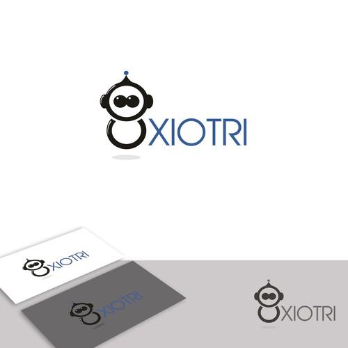 Mascot logo for a technology company