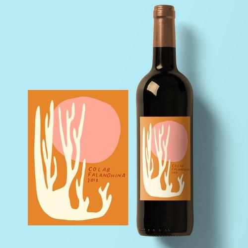 Coral Wine Label