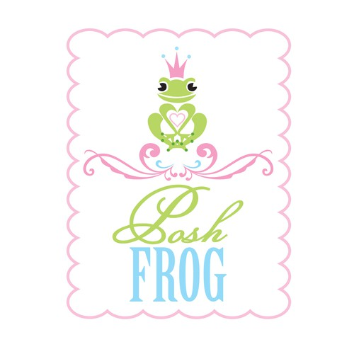 Create the next logo for Posh Frog