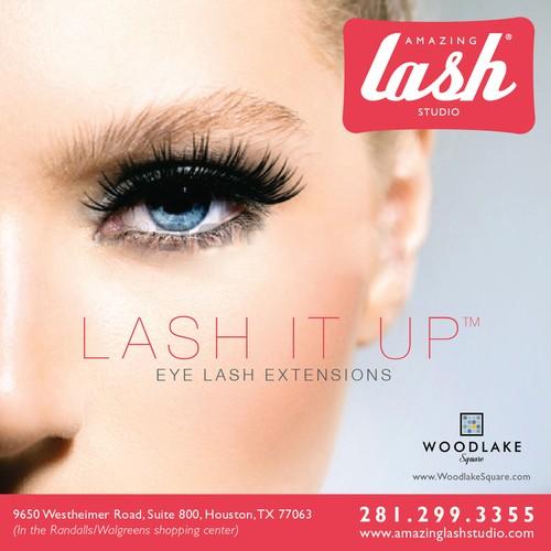 Create an ad for Amazing Lash Studio