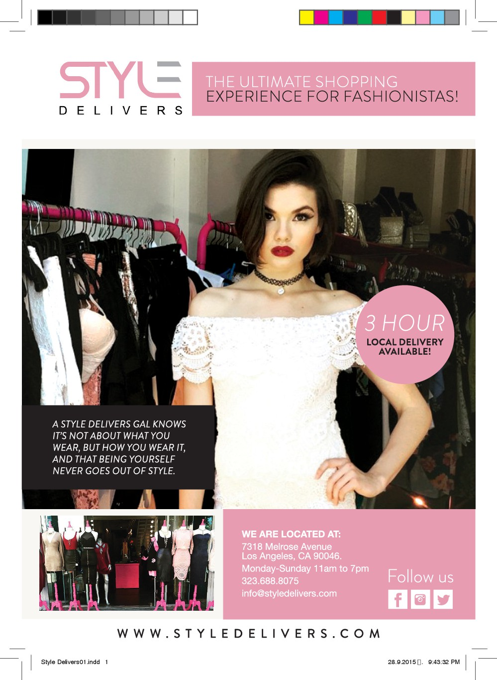 Design Flyer/Postcard for a NEW Boutique/ Brand in Los Angeles, CA!!