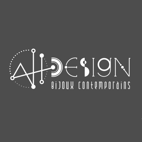New logo wanted for AH DESIGN  (first line bigger) bijoux contemporains (second line smaller letter)