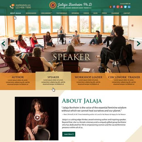 Author/speaker/workshop leader needs beautiful Wordpress site