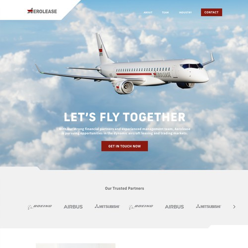 Website for Airplane Company