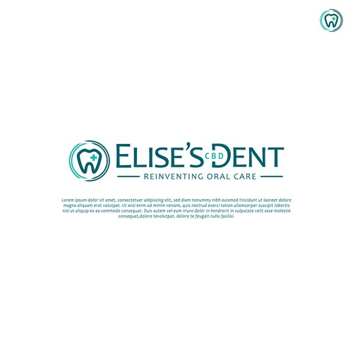 Elegant, professional logo ELISE'S CBD DENT
