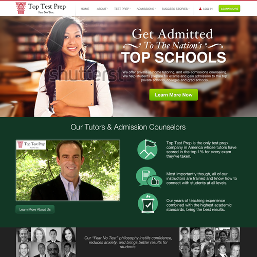 --Guaranteed Prize!-- Create a new website for Top Test Prep [5 pages]