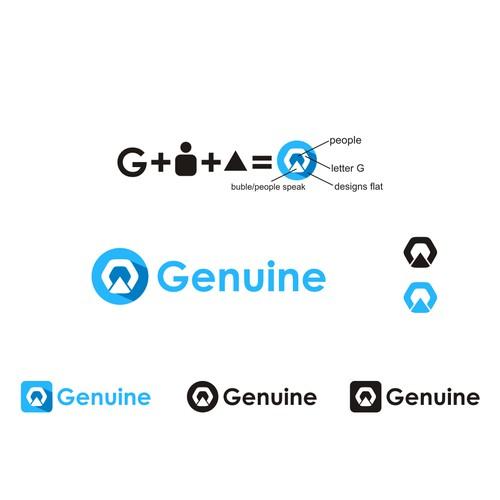 Create a clean, elegant, fun, and flat logo for a social rediscoveryapp