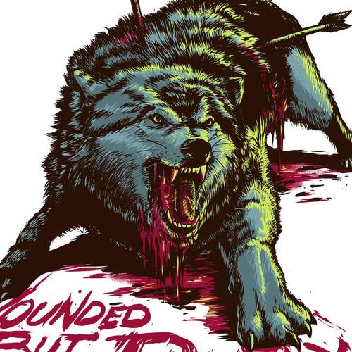 Wolf illustrtion