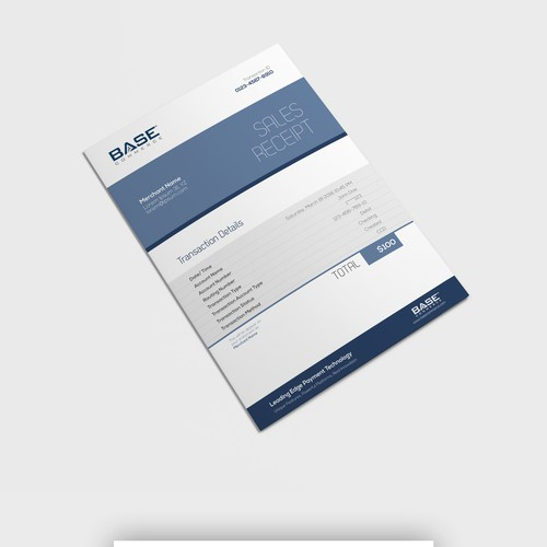 simple invoice design for base