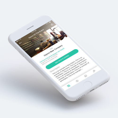 App Design for Venue