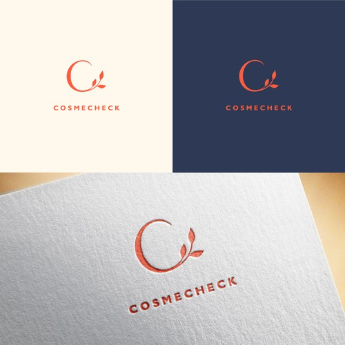 Design a clean and powerful logo for CosmeCheck