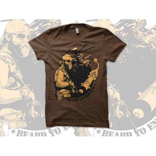 """BEARD TO ENGAGE"" AH-64 Apache T-Shirt"