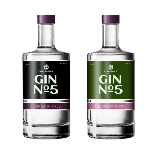 Gin label design