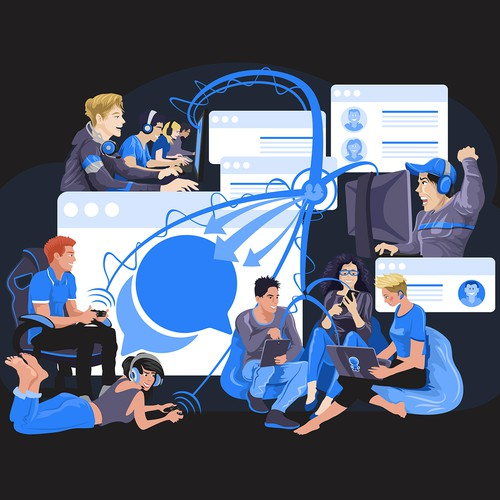 e-sports.rocks Landing page illustration