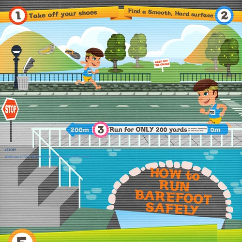 Teach People How To Run Barefoot Safely!