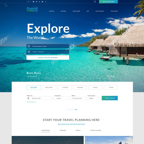 Travel agency web design concept