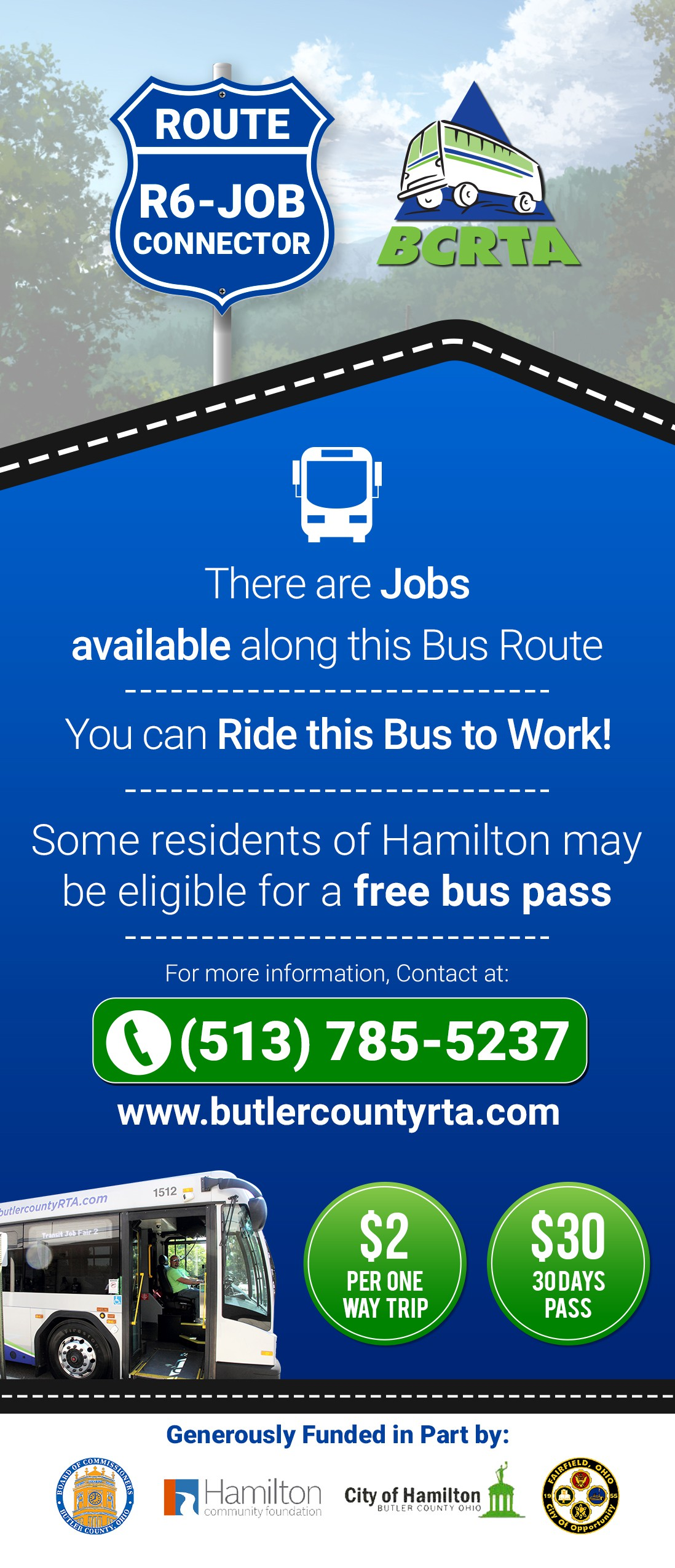 create a catchy bus flyer design for 10,000 recipients