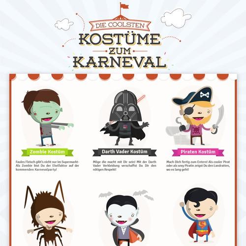 Infographic Karneval Kostüme