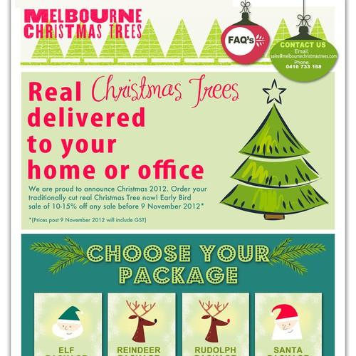 Melbourne Christmas Trees needs a new design