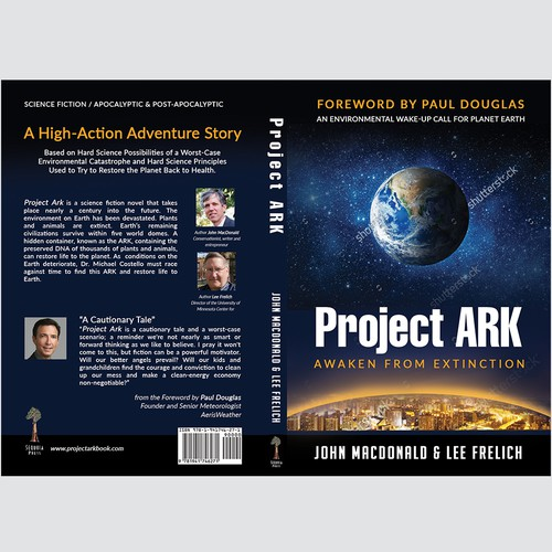 Create Book Cover for New Science Fiction Book: Project Ark: Awaken from Extinction