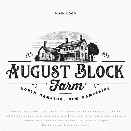 Logo for August Block Farm