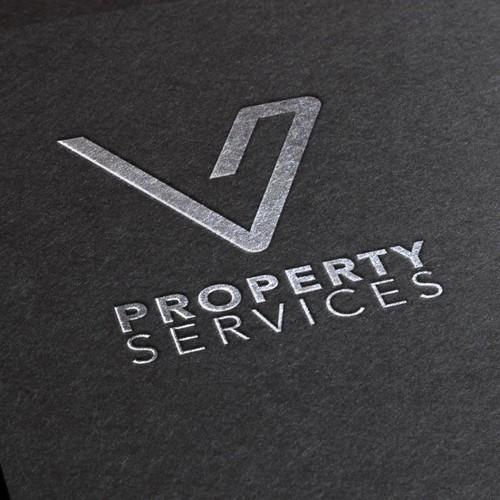 V Logo que inspira profesionalidad