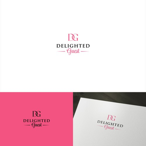 Create an attractive logo for Delighted Guest!