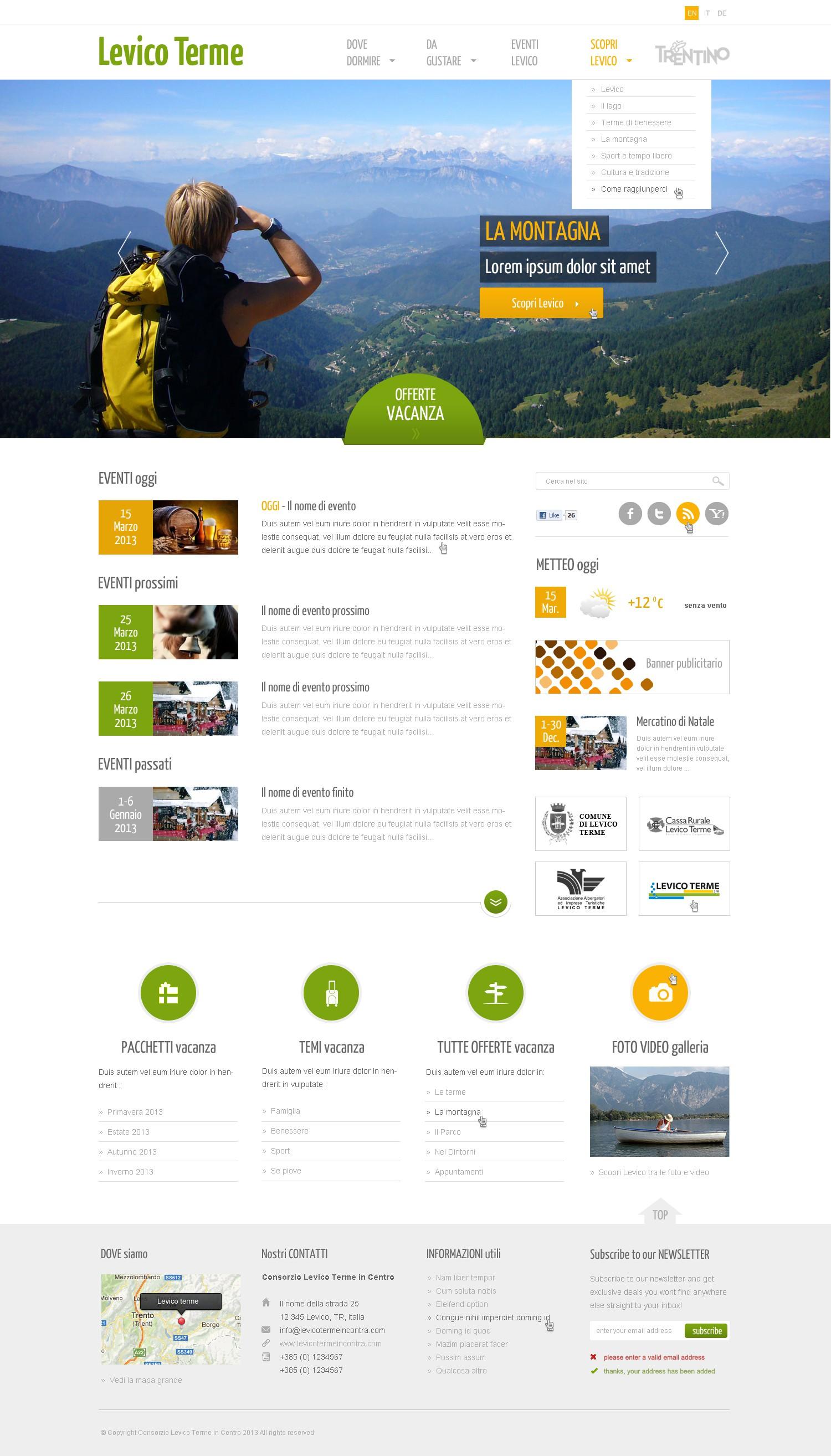 """Aiuta """"Visit Levico Terme"""" con un nuovo website design"""