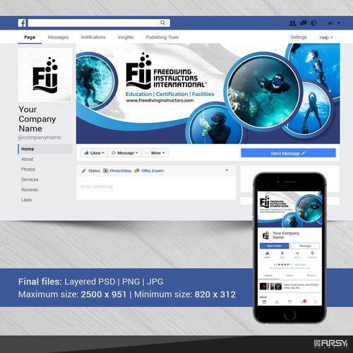 "Facebook Cover for ""Freediving Instructors International"""